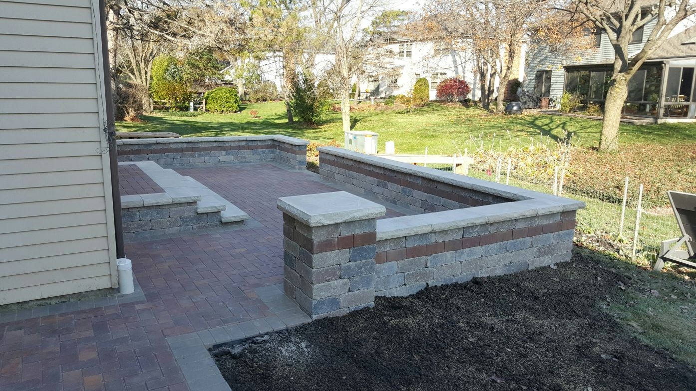 Brick Patio In North Chicago Hindsdale Area By Brick Pavers