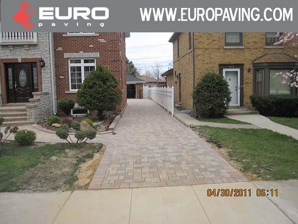 brick driveway in Barrington