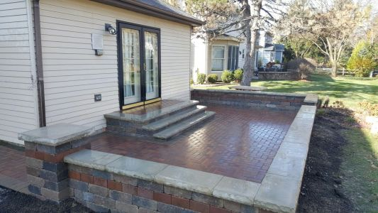 Brick Patio in Chicago Area by Brick Pavers