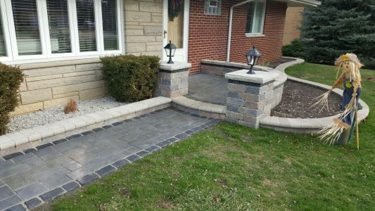 Brick Driveway in Chicago Area by Brick Pavers