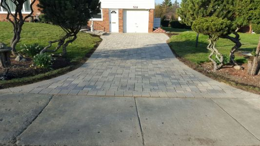 Brick Driveway in Chicago Area
