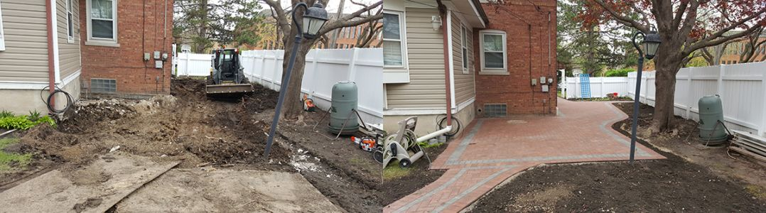 before after brick paving