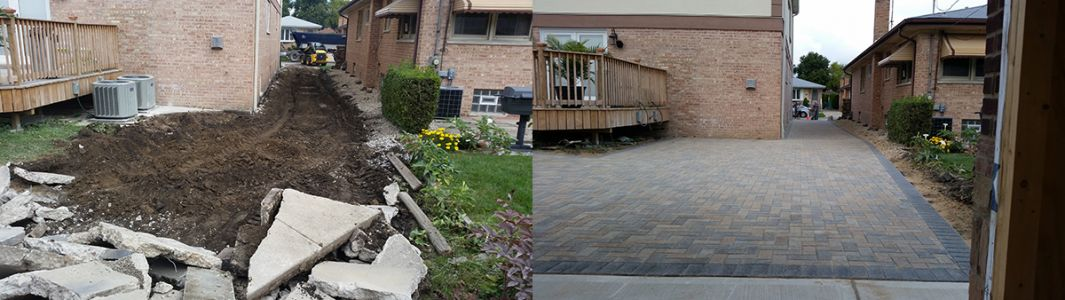before after driveway
