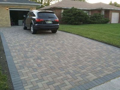 brick paving driveway in glenview by europaving after
