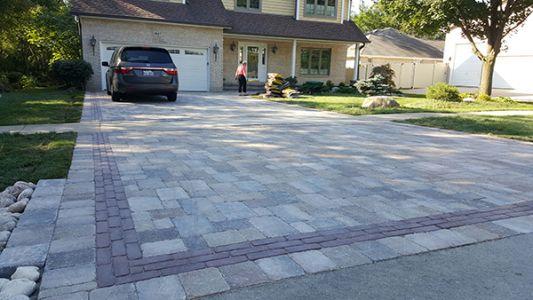 brick paving driveway lake forest il