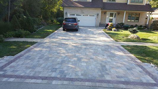 brick paving driveway lake forest