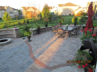 brick paving outdoor patio