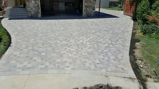 brick paving driveway completed by euro paving in arlington heights