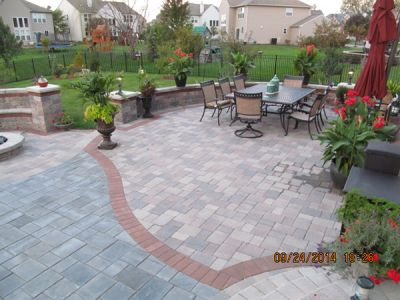 Brick Paving Patio In Illinois