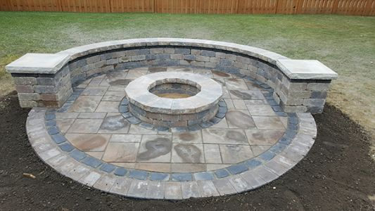 brick paving patio in arlington heights