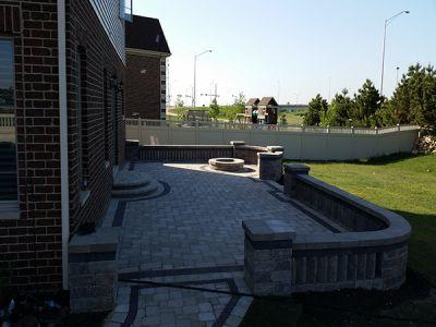 brick paving patio