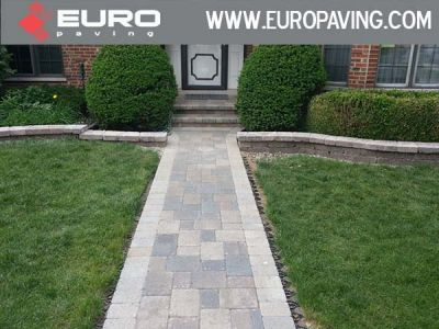 brick paving sidewalk arlington heights entrance