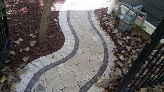 brick paving sidewalk in chicago