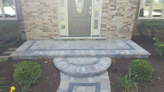 brick paving steps