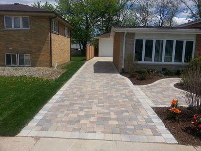 brick paving driveway