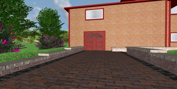 highland park brick paving driveway