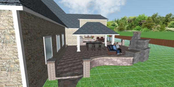 patio design by euro paving