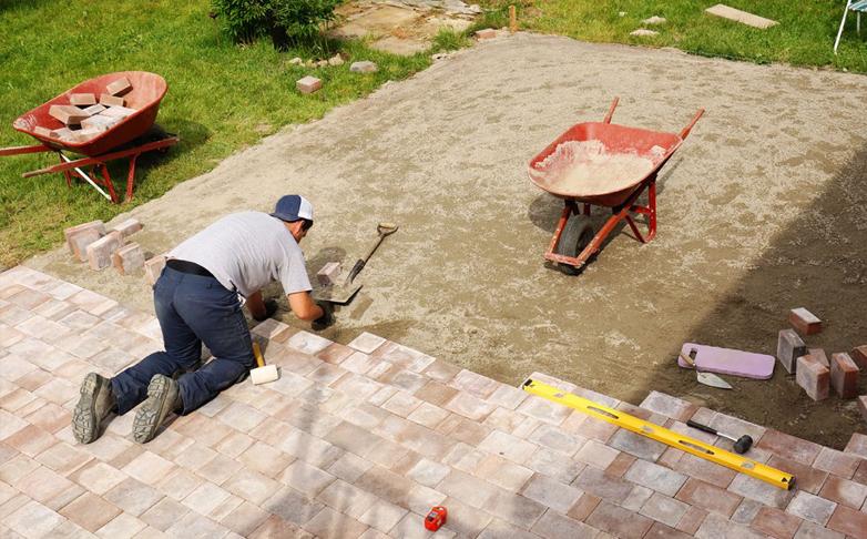 Chicago pavers set brick paving patio