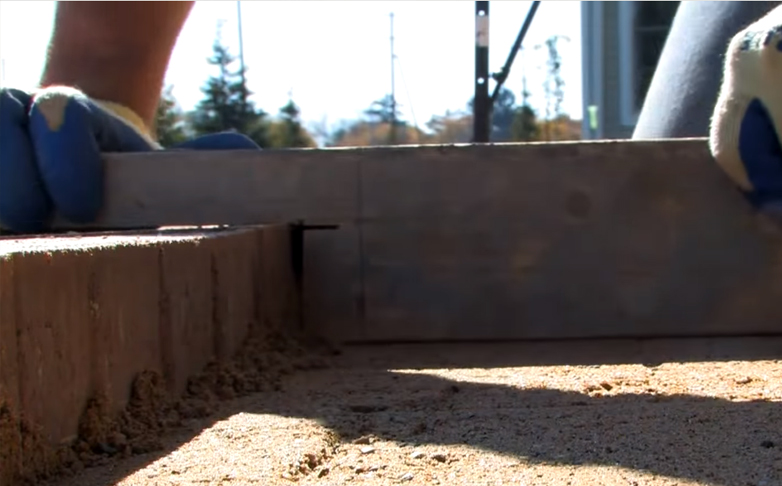how to put more sand to build a patio