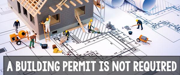 building permit for brick patio