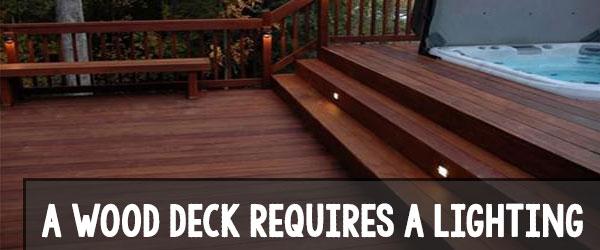 lighting wood deck