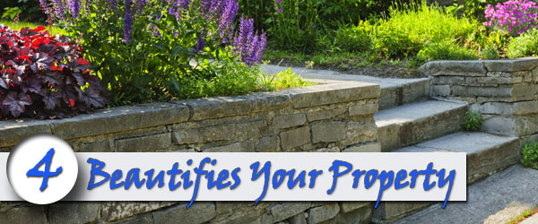 brick retaining wall Beautifies Your Propert