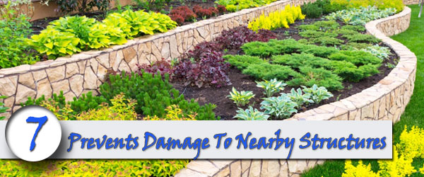brick retaining wall Prevents-Damage To Nearby Structures