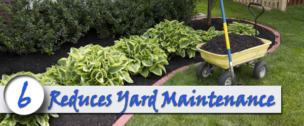 brick retaining wall Reduces Yard Maintenance