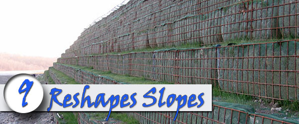 brick retaining wall reshape slopes
