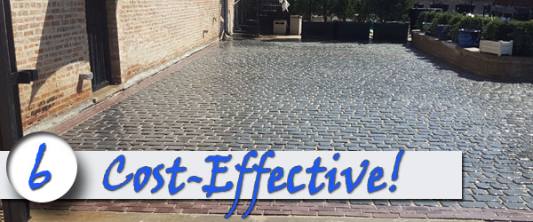 Brick pavers are cost effective