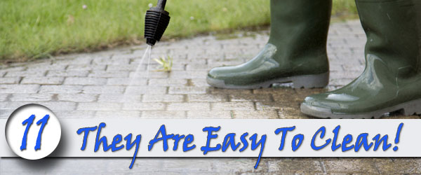 Brick sidewalks are easy to clean