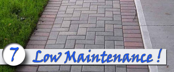 Brick sidewalks are low maintenance