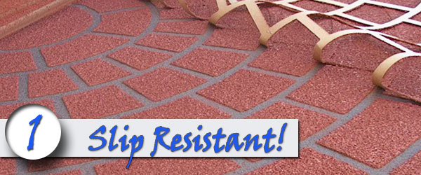 Brick sidewalks are slip resistant