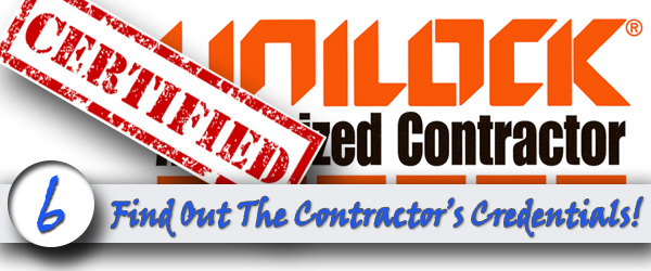 Find Out The Contractor's Credentials