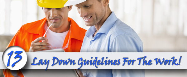 Lay-Down-Guidelines For Working Inside And Outside Your Home