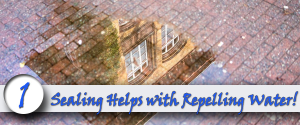 sealing helps with repelling water