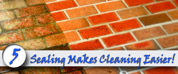Sealing Makes Cleaning Easier