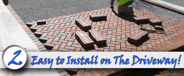 easy to install on the driveway