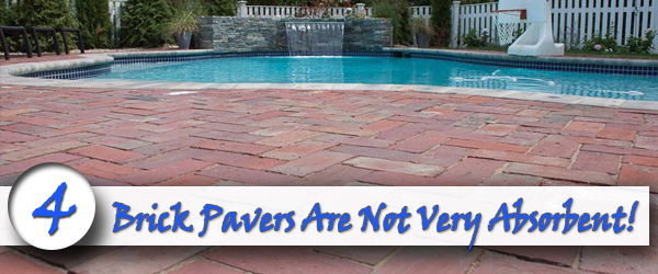 Brick Pavers Are Not Very Absorbent