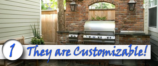 Brick Buil-in Grills are Customizable